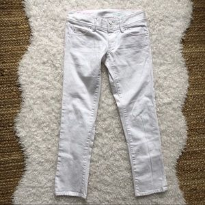 Lilly Pulitzer White Worth Straight Crop Jeans 0